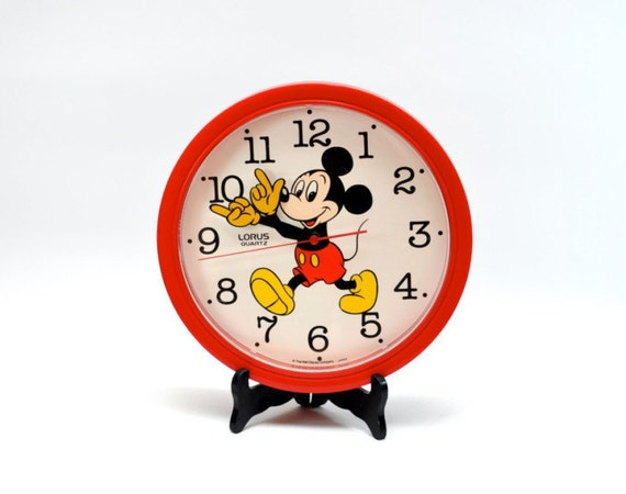 Mickey Mouse Wall Clock Vintage 80s Mickey Mouse Wall