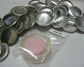 "100 Aluminum Flat Back Self Cover Buttons Size 45 (1 1/8"")"