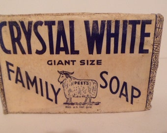 NOS 1920s Crystal White Family Soap
