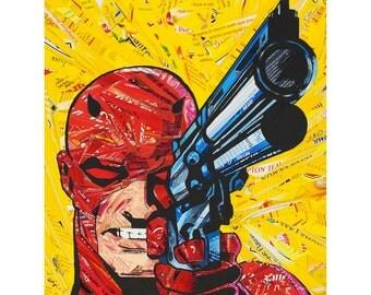 No More Mr. Nice Guy - Daredevil - Upcycled Art