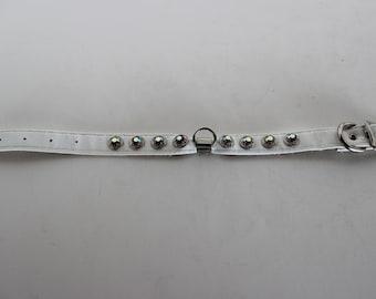 Vintage Dog Collar, White