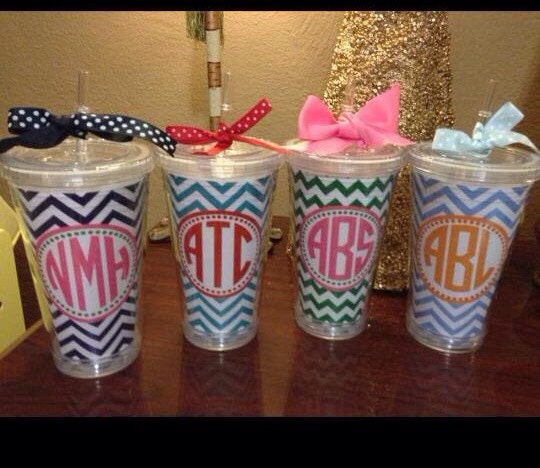 chevron cup acrylic cup tumbler personalized cup