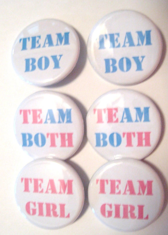 Twins Gender Reveal Party Team Boy Team Girl By