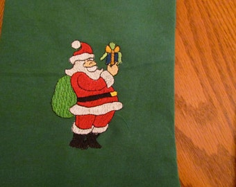 Santa Embroidered Stocking