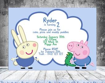 Invitation Peppa Pig