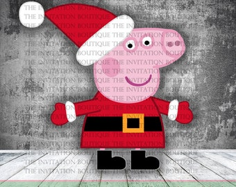 Peppa Pig Clipart - LIMITED EDITION Christmas Clipart Instant download