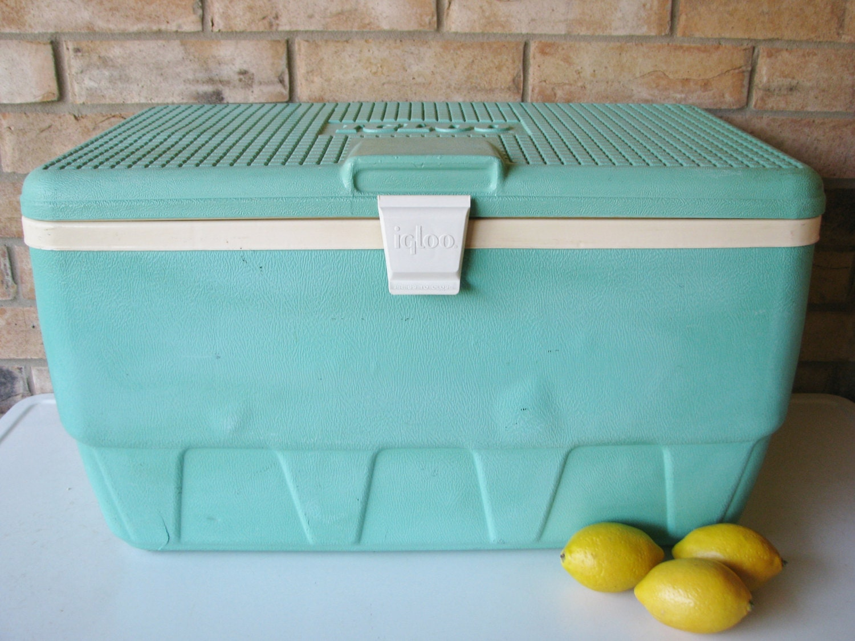 Vintage igloo cooler turquoise aqua picnic ice chest - Igloo vintage ...