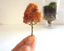 Crisp Autumn....Miniature Tree Terrarium Accessory Realistic Tiny Tree Terrarium Accessory Fall Colors Tiny Figure Miniature Garden
