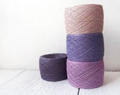 400gr / 14oz.  of natural Linen Yarn, linen thread, natural linen, purple, lavender, pale pink - YarnStories