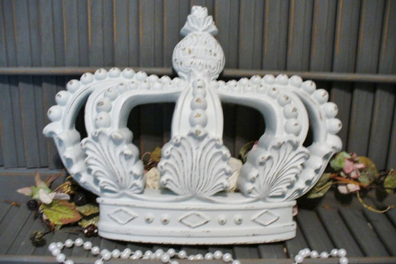Princess Crown Wall Decor Hanging Victorian Shabby Chic Cottage Style