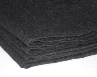 Black linen tablecloth rustic rectangle flax table cloth in minimalist style