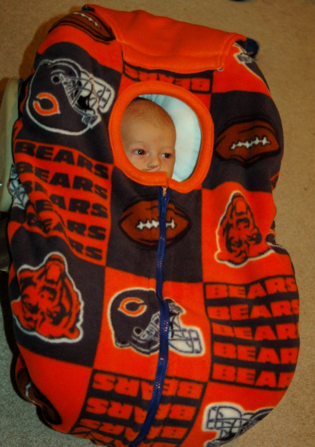 Chicago Bears Baby Car Seat Cover By Reelstitch On Etsy