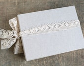 Extra Large Rustic Linen Photo Album or Wedding Guest Book Rustic Photo Book Baby Photo Album Photo Guest Book