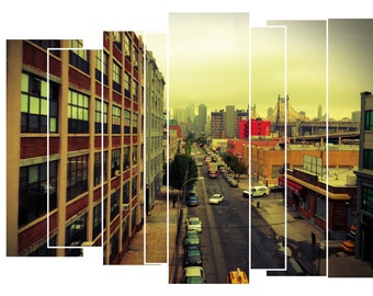 Queens Photography, LIC, Astoria, Queensboro Bridge, Abstract Print, Skyline, Long Island City, 7 Train, FREE SHIPPING!
