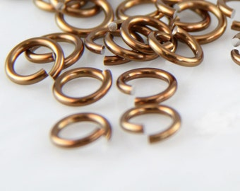 16 ga 1/4, 150 Bronze Anodized Aluminum Chainmail Jump Rings