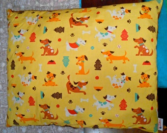 Puppy Pillow Bed with Chocolate Brown Minky