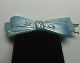 Light Blue Bow Barrette