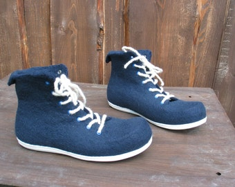 Hand-felted boots SEA SPIRIT