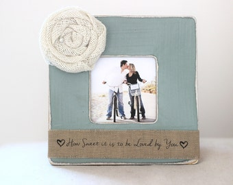 Gift for Wife Mom New Mom Personalized Picture Frame from Husband 'How Sweet it is to be Loved by You'
