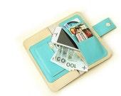 Ecru  Women's Leather wallet ,Handmade Wallet ,Iphone wallet ,Leather Iphone 5 wallet