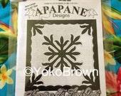 "Hawaiian quilt pattern ""Ti leaf"" 42 inch x 42 inch"