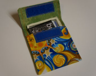 CELESTIAL Wallet Fabric Credit Card Holder