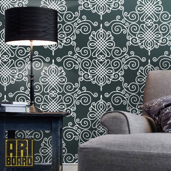 Damask Self Adhesive Diy Wallpaper Home Decor Peel N By Artboardi