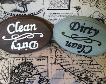 Clean/Dirty Dishwasher Sign