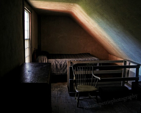 "Empty Room..8x10"".. Fine Art Photography Limited Edition Signed  Print..Dark, Emotive, Pink, Green..Home Office Decor"