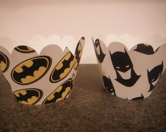 Superhero Cupcake Wrappers   Set of 12