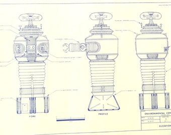 Robot From TV's Lost In Space Blueprint