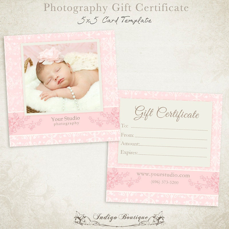 photography gift certificate photoshop template 011 id0132. Black Bedroom Furniture Sets. Home Design Ideas