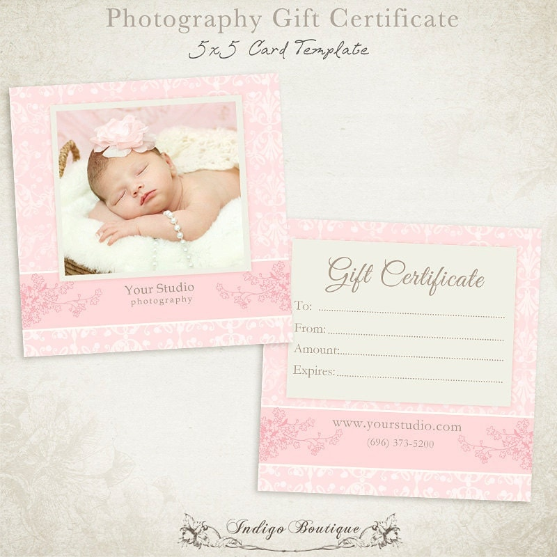 gift certificate template photoshop - photography gift certificate photoshop template 011 id0132