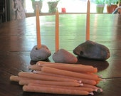 Beach Rock Candle Holder and 100 Beeswax Candles (burn time:1 hour)