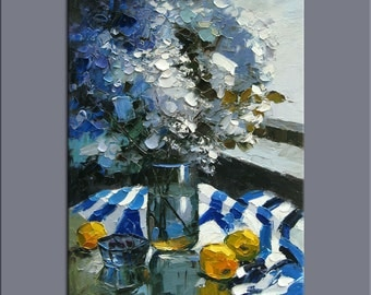 flowers oil painting,impasto oil on canvas,hand painted,framed,ready to hang,huge 24''x36''  palette knife painting  flowers