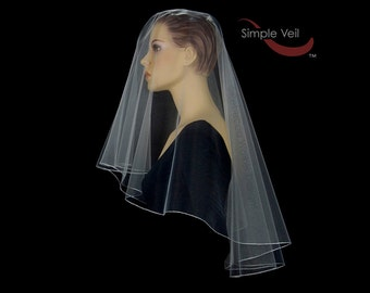 50 inch Drop Veil style Bridal Veil, Pencil Edge