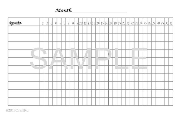 digitale printable goal tracker pdf  size 4x6 by craftru on etsy