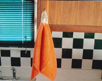 wash cloth with ribbon