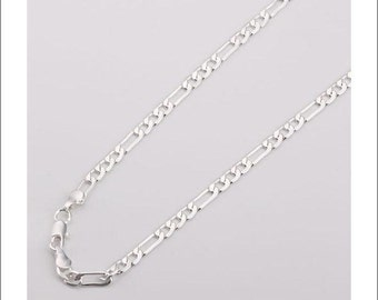 """5pcs 20"""" 4mm silver plated Figaro Chain Necklace"""