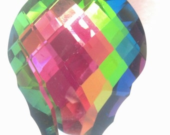 ONE Multicolor 63mm Vitrail Rainbow French Cut Chandelier Crystals Shabby Chic