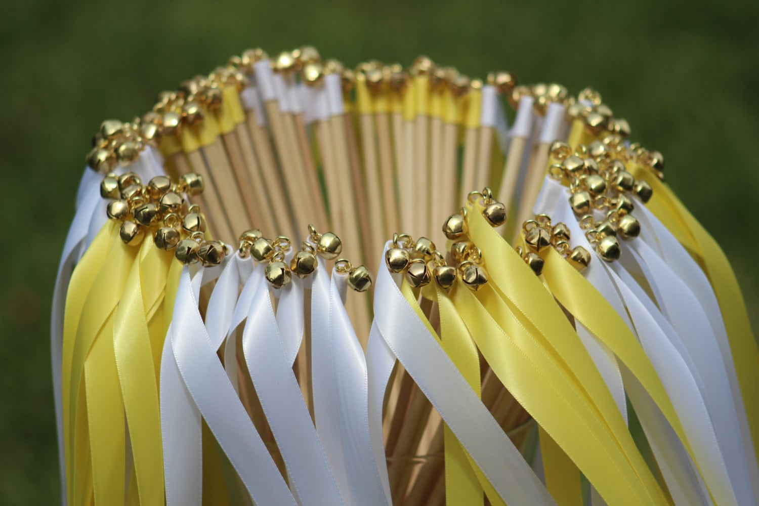100 wedding ribbon wands with bells party streamers party for Wedding wands