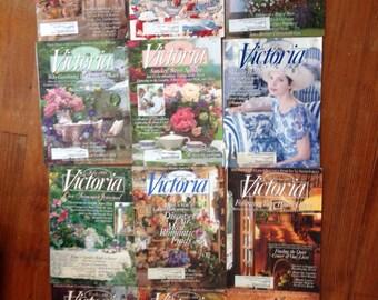 Victoria magazines 1995 thru 2002