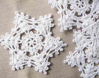 White snowflakes Christmas home decors Christmas ornaments Wedding decorations, appliques