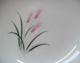 2  Vintage Pink Tulip China Bowls