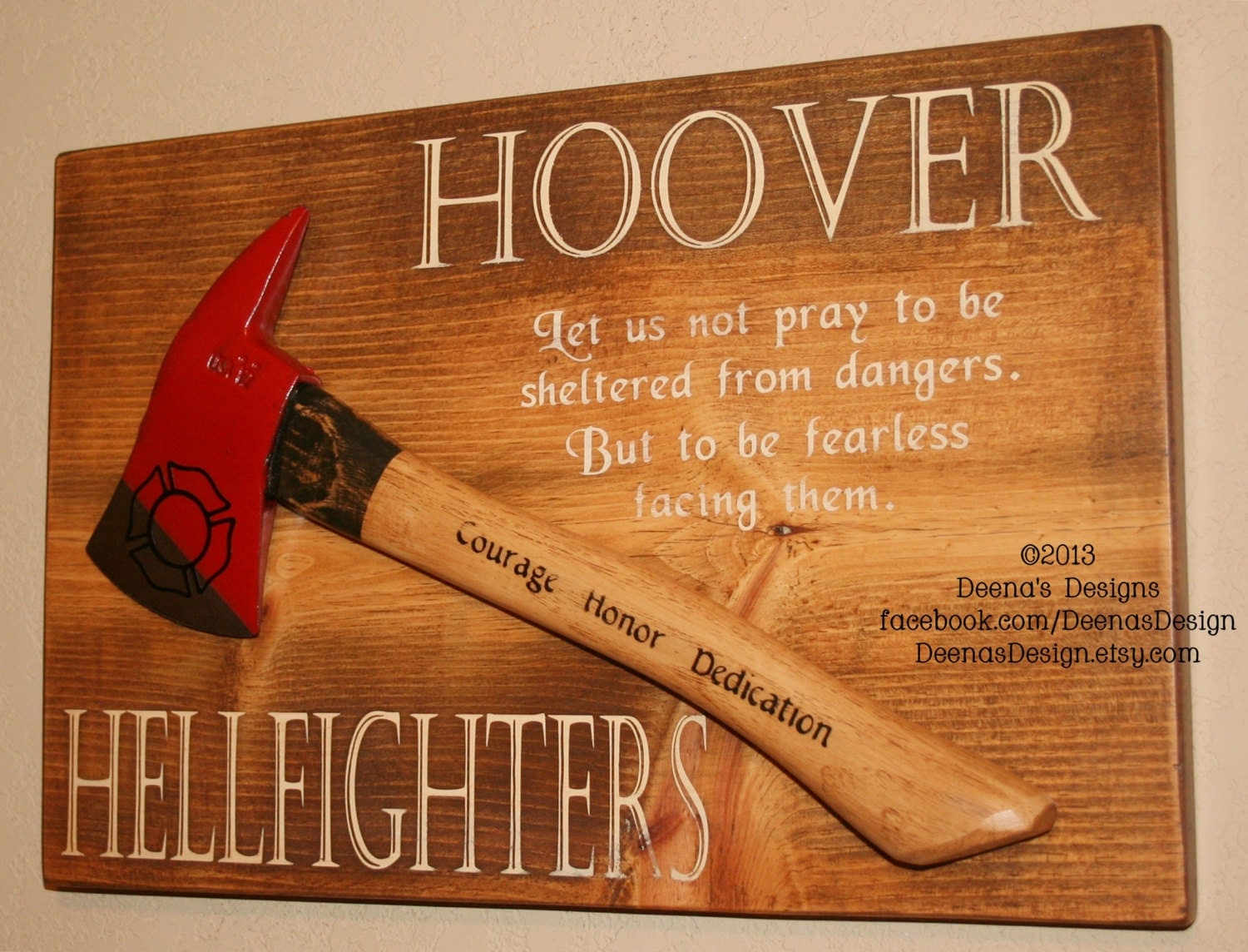 Personalized firefighter ornaments - Fire Axe Plaque Pick Head Fire Axe Wall Hanging Mounted Fire Axe Sign