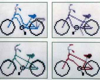 Bicycles Cross Stitch Pattern PDF: Easy Breezy Bicycles