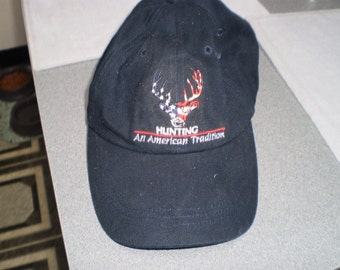 Vintage Hunting Baseball Cap by Quality Classics With Adjustable Velcro Back