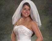 Fly Away Veils Shoulder Length Bridal Veils 2 Layer Plain Cut 22 Tulle Veils Short Bridal Light Ivory Veils Diamond White Veils