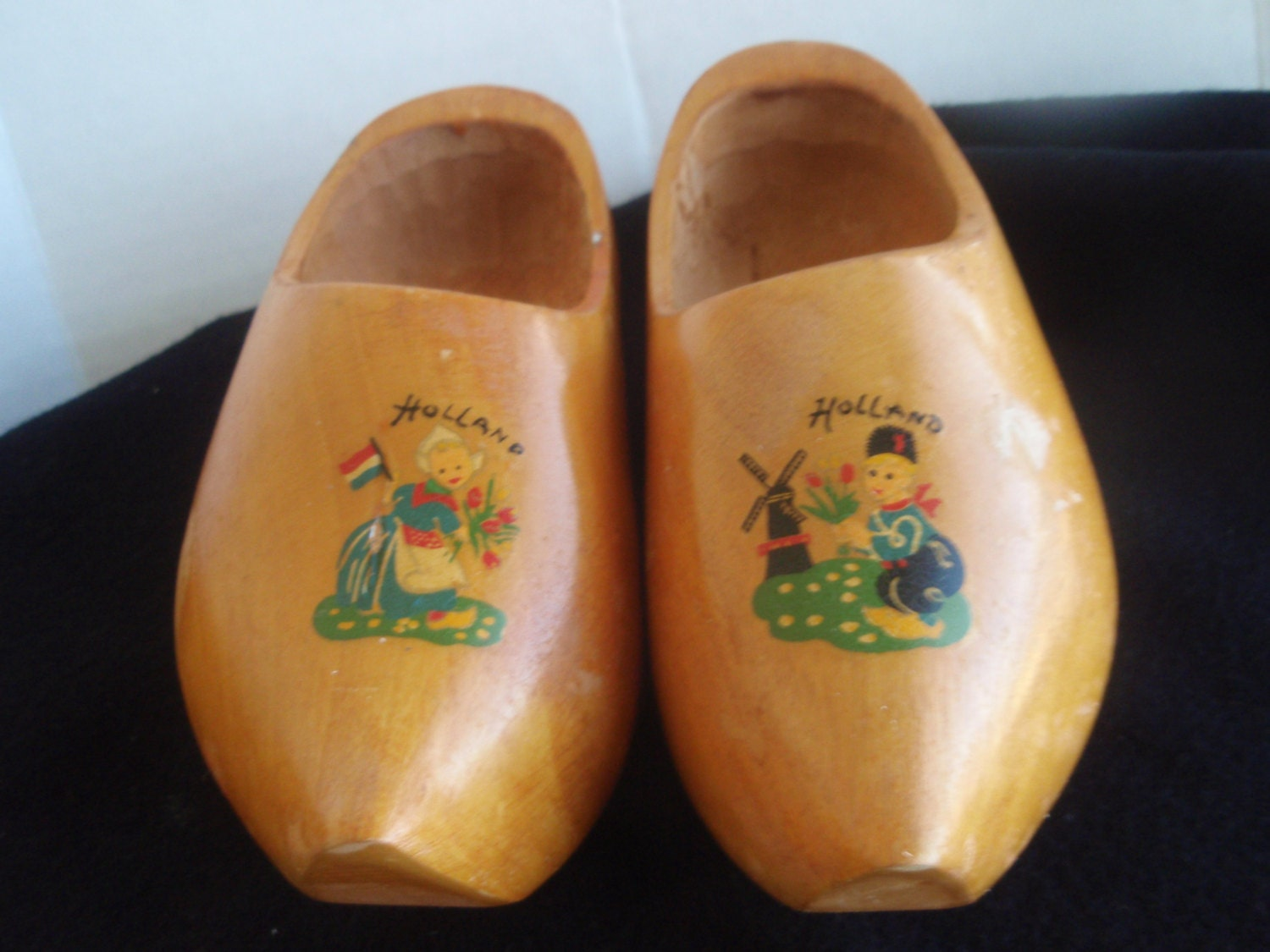Dutch Wooden Shoes Made In Holland Souvenir Pair Of Wooden