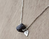 GENUINE raw Black Tourmaline Necklace Healing Crystal Natural Stone Yoga Jewelry healing jewelry  healing jewelry positive energy